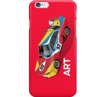 Art Car (red) iPhone Case/Skin