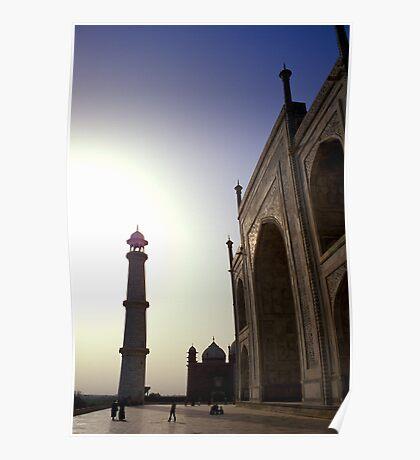 Taj Mahal by dawn Poster