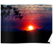Bushland sunset Poster