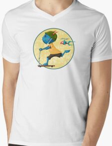 Kid Monstro Go! Mens V-Neck T-Shirt