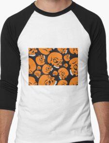 The Orange Skull - Halloween Skulls Men's Baseball ¾ T-Shirt