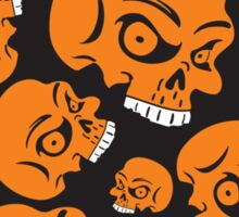 The Orange Skull - Halloween Skulls Sticker