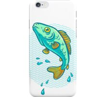 fish jumping out of water iPhone Case/Skin