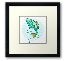 fish jumping out of water Framed Print