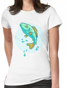 fish jumping out of water Womens Fitted T-Shirt