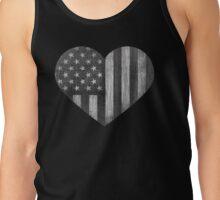 Black/White American Heart Tank Top