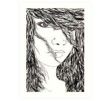 girl hair Art Print