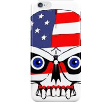 Old glory skull  iPhone Case/Skin