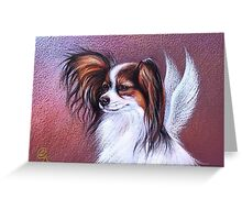 """Patient angel ""( Papillon) Greeting Card"