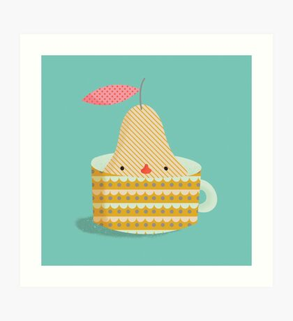 pear in a cup Art Print