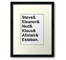The Life Aquatic Characters Framed Print