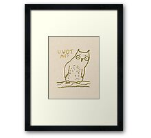 Confused Owl Framed Print