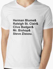 Bill Murray Wes Anderson Characters Mens V-Neck T-Shirt