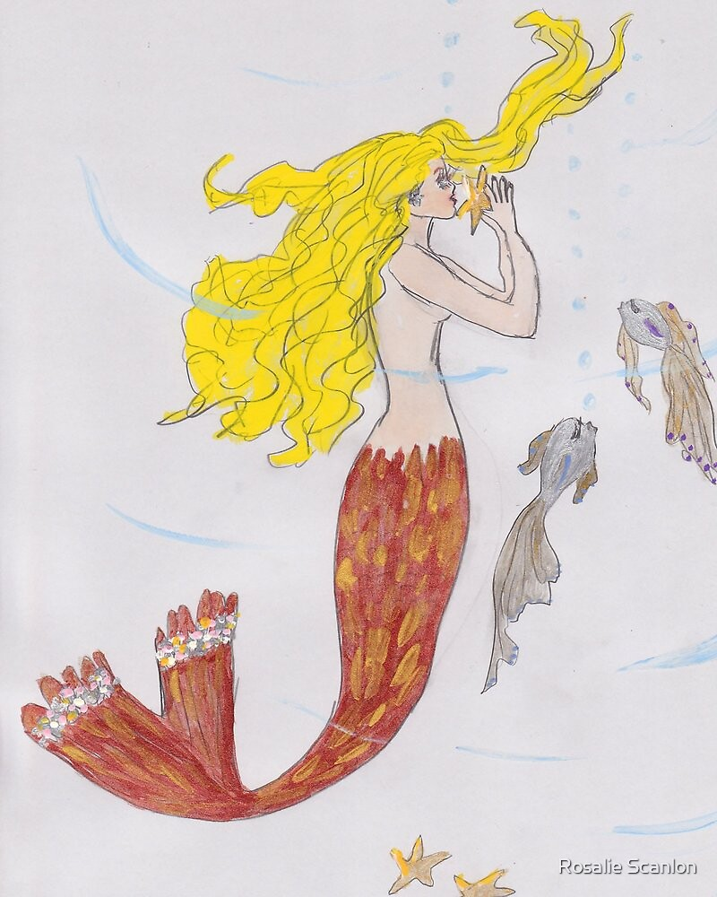 Mermaid with the blond hair by Rosalie Scanlon