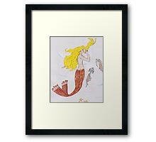Mermaid with the blond hair Framed Print