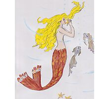Mermaid with the blond hair Photographic Print