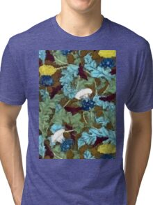 Colorful Vintage Dandelions Abstract Tri-blend T-Shirt