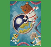 Animal Astronauts One Piece - Short Sleeve
