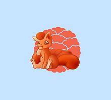 Cute vulpix fire fox by Xeinnata