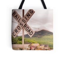 Use Caution When Crossing Tote Bag