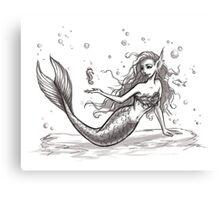 Tiny Mermaid Canvas Print