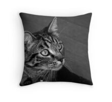 Jasper in Black & White Throw Pillow