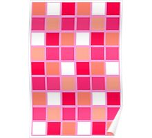 Playful Harlequin Lipstick Color Tiles Poster