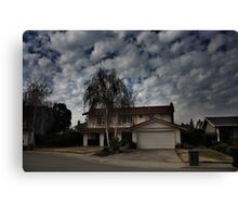 Suburban Clouds Canvas Print