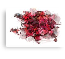 Red Trees Watercolour Canvas Print