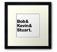 Minions • Bob & Kevin & Stuart. Framed Print