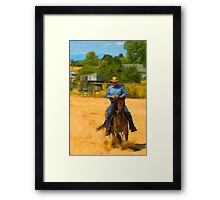 Eat And Run Framed Print