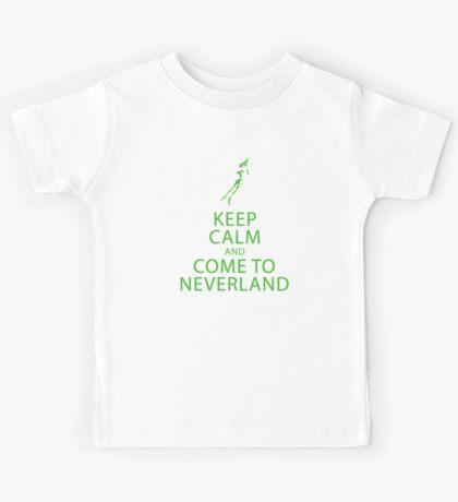 Keep Calm and Come to Neverland Kids Tee