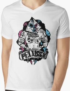 PELUSSJE as Strong Macho with Pyramid Head Mens V-Neck T-Shirt
