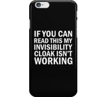 Harry Potter  - Invisibility Cloak Malfunction [Dark Edition] iPhone Case/Skin