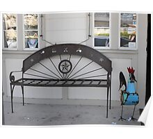 Texas-Proud Bench in Downtown Glen Rose Poster