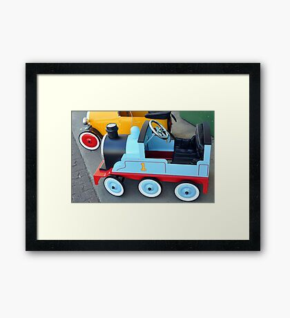 Coloured Wheels Framed Print
