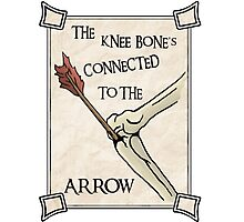 Skyrim Knee Bone's connected to the arrow Photographic Print
