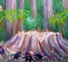 Tassie rain  forrest by Barbara Cliff