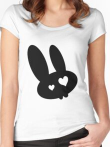 Emo bunny Women's Fitted Scoop T-Shirt