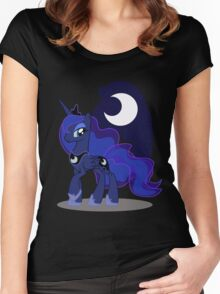 Princess Luna with cutie mark Women's Fitted Scoop T-Shirt