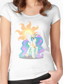 Princess Celestia with cutie mark Women's Fitted Scoop T-Shirt