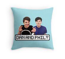 Dan and Phil! Throw Pillow