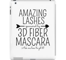 Amazing Lashes Sponsored by 3D Fiber Mascara. Ask me about it!  Younique Inspired iPad Case/Skin