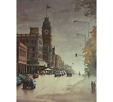 Sturt street, Ballarat at dusk Photographic Print