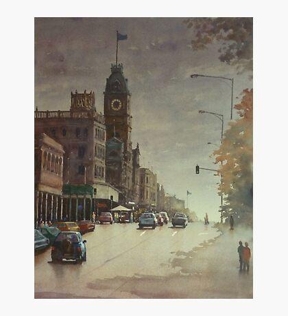 Sturt street, Ballarat at dusk Photographic Print