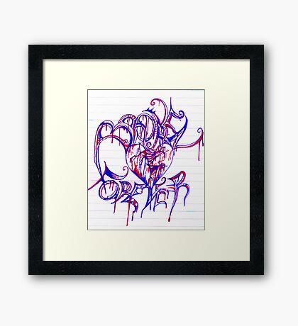 """""""BROKEN FOREVER""""  By Jessica Framed Print"""