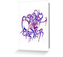 """""""BROKEN FOREVER""""  By Jessica Greeting Card"""