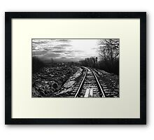The Train Line Framed Print