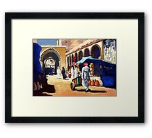 Steet market in Morocco Framed Print