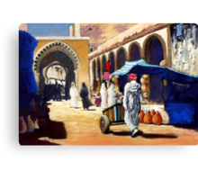 Steet market in Morocco Canvas Print